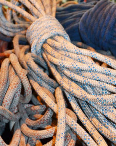 ropes-pile